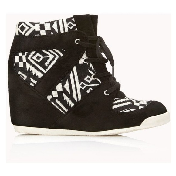 8904cc462a8b Forever 21 Shoes - Brave Voyager Wedge Sneakers